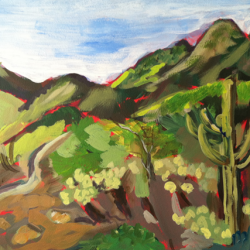 Plein Air Desert Greens