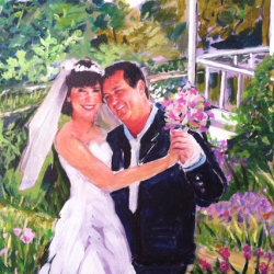 """Dave and Suzie's Wedding"" 20"" × 24"" oil on acrylic Pricing/Purchasing"