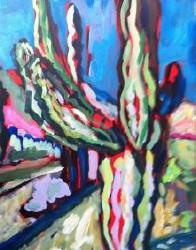 painting desert cactus