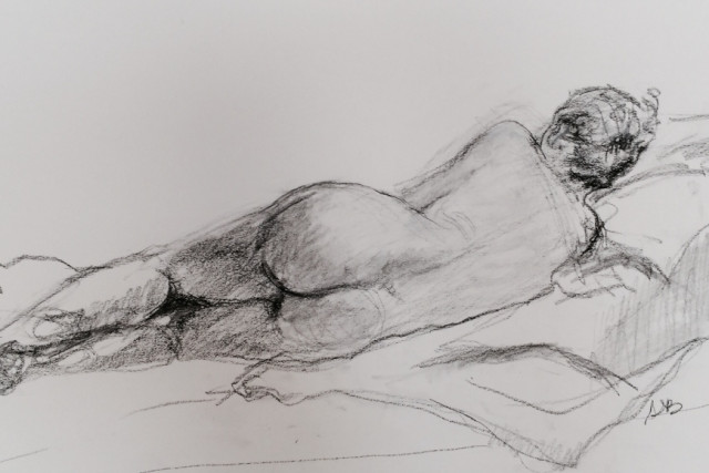 Slide – Nude girl reclining